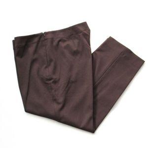 Talbots Petites Heritage Dress Crop Pants Brown